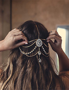 cheap Fashion Headpieces-Women's Rhinestone Alloy Rhinestone Head Chain