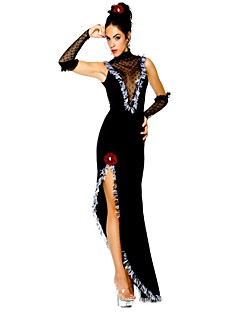 billige Halloweenkostymer-Queen Gudinne Cosplay Kostumer Maskerade Dame Jul Halloween Karneval De dødes dag Oktoberfest Nytt År Festival / høytid Halloween-kostymer
