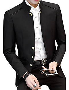 Men's Casual/Daily Plus Size Casual Vintage Spring Fall Blazer