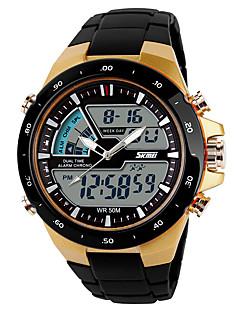 SKMEI Herrn Sportuhr Armbanduhren für den Alltag Digitaluhr digital Plastic Band Schwarz