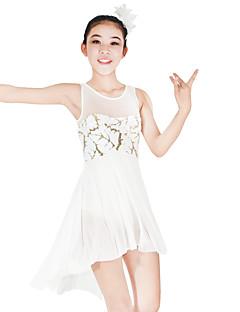 Μπαλέτο Φορέματα Γυναικεία Παιδικά Παράσταση Ελαστικό Ελαστίνη Με πούλιες Λίκρα Παγιέτες Αμάνικο Φυσικό Φορέματα Αξεσουάρ Κεφαλής