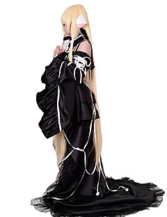 に触発さ ちょびっツ ちぃ アニメ系 コスプレ衣装 コスプレスーツ ドレス ゼブラプリント ノースリーブ ドレス 襟 スリーブ 用途 女性用