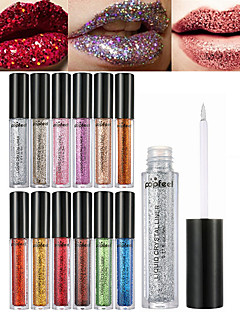 cheap Makeup For Lips-Lip Gloss Lipstick Wet Shimmer Liquid Shimmer glitter gloss Coloured gloss