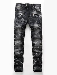 billige Herrebukser og -shorts-Herre Lin Chinos Jeans Bukser - dratt, Ensfarget