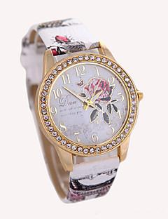 Damen Modeuhr Armbanduhr Quartz Leder Band Weiß Rot Braun Grau