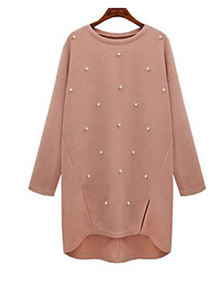 baratos Suéteres de Mulher-Mulheres Manga Longa Pulôver - Sólido / Outono