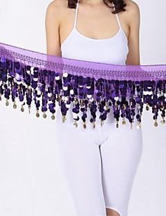 cheap Belly Dance Wear-Belly Dance Hip Scarves Women's Performance Chiffon Paillette Hip Scarf