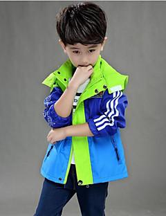 billige Jakker og frakker til drenge-Drenge Farveblok Jakke og frakke Blå Orange Gul