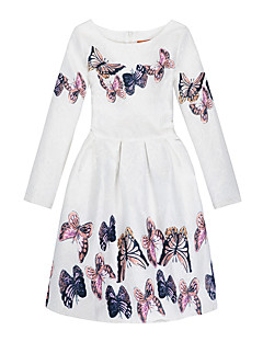Girl's Daily Holiday Print Dress