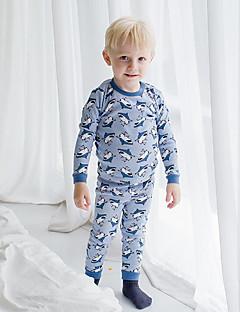 Jungen Schlafanzüge Druck Baumwolle-Herbst-Lange Ärmel
