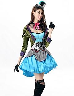 billige Halloweenkostymer-Den gale hattemaker ringmaster Kjoler Cosplay Kostumer Maskerade Dame Halloween Karneval Oktoberfest Nytt År Festival / høytid