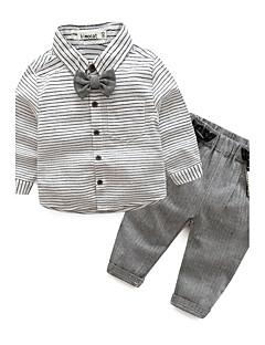 お買い得  赤ちゃんウェア-赤ちゃん 男の子 日常 ストライプ アンサンブル 秋