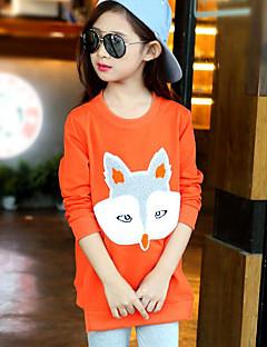 tanie Odzież dla dziewczynek-Komplet odzieży Bawełna Dla dziewczynek Rysunek Jesień Orange Blushing Pink