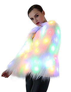 LED-T-Shirts Kunstpelz Mäntel / Jacken Party/Abends LED Party Fluoreszierend Geburtstag Lässig/Alltäglich Neuankömmling Chrismas