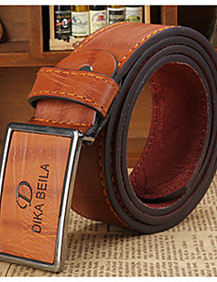 cheap Fashion Handbags & Accessories-Men's Party Work Casual Leather Waist Belt - Solid Colored