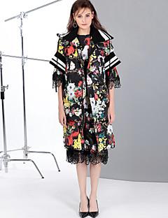 cheap Women's Downs & Parkas-MARY YAN&YU Women's Daily Going out Cute Sexy Print Long Down, Half Sleeves