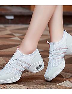 hesapli -Kadın's Dans Sneakerları Tül Babetler / Topuklular Dans Ayakkabıları Beyaz / Siyah / Egzersiz