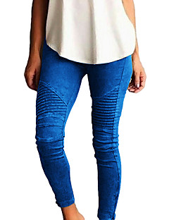 dames medium effen kleur legging, effen mode potlood broek
