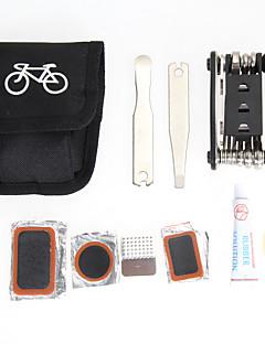 ea14 1x sykkel reparasjonsverktøy sett bicykel sykling punktering sykkel multi funksjon verktøy reparasjon sett sett med pose