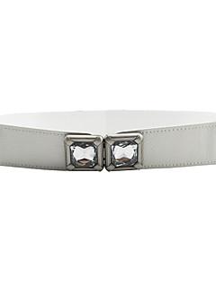 billige Trendy belter-Dame Uregelmessig stil Smalt belte,Sexy Ensfarget andre Legering Blå Hvit Svart Rød