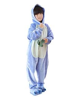 billige Kigurumi-Kigurumi-pysjamas med tøfler Blå Monster Anime Onesie-pysjamas Kostume Flannelstoff Rosa Blå Cosplay Til Barne Pysjamas med dyremotiv