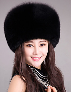 cheap Fashion Hats-Women's Faux Fur Bowler/Cloche Hat,Hats Jacquard Winter Spring/Fall Pure Color Blushing Pink Beige Purple Yellow Fuchsia