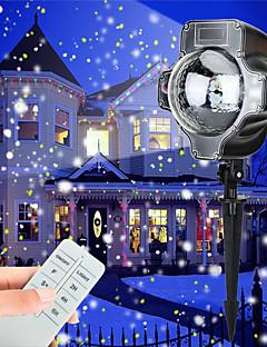 preiswerte Briefkasten Lampen-Weihnachten führte Schneefall Projektor Licht Tofu rotierenden wasserdichte weiße Schneeflocke Fee Landschaft Projektion Lichter mit