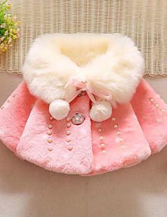 Χαμηλού Κόστους Winter Sale-Κοριτσίστικα Κοστούμι & Σακάκι Πολυεστέρας Πουά Patchwork Χειμώνας Φθινόπωρο 3/4 Μήκος Μανικιού Κουκκίδα Λευκό Ρουμπίνι Ανθισμένο Ροζ