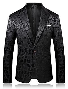 Erkek Pamuklu Polyester Uzun Kol Çentik Yaka Sonbahar Kış Solid Actif Seksi sofistike Dışarı Çıkma Günlük/Sade Normal-Erkek Blazer