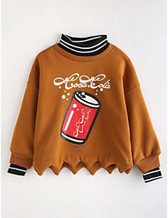 tanie Odzież dla dziewczynek-Bluzka Bawełna Dla dziewczynek Rysunek Jesień Długi rękaw Brown