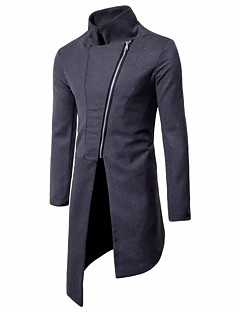Men's Going out Casual/Daily Casual Vintage Winter Fall Coat
