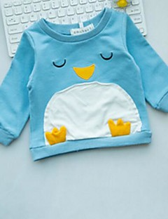 hesapli Bebek Üstleri-Bebek Çocuklar için Tişört Karikatür Doğal Pembe Açık Mavi