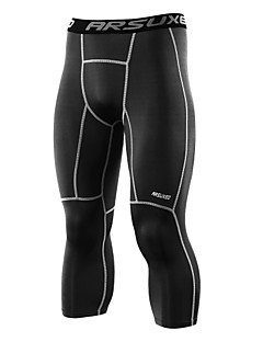 billige Løbetøj-Arsuxeo Herre Løbetights / Løbebukser 3/4 Sport 3/4 Tights / Underdele Yoga, Tennisbold, Træning & Fitness Svedtransporende,