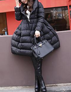 Damen Daunen Mantel Einfach Lässig/Alltäglich Solide-Baumwolle Polypropylen Langarm