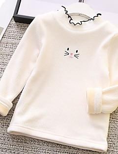 Mädchen Bluse Cartoon Design Baumwolle Herbst Winter Langarm Standard