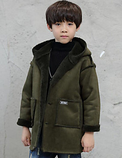 Boys' Print Jacket & Coat,Polyester Winter Fall Long Sleeves Army Green