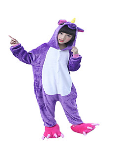 Kigurumi Pyjamas Hest Kostume Lilla Kigurumi Trikot / Heldraktskostymer Cosplay Festival / høytid Pysjamas med dyremotiv Halloween
