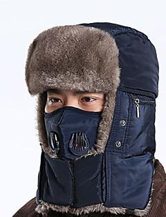 billiga Skid- och snowboardkläder-Skidmössa Skidor Skalle Mössa Skyddsmask mot Förorening Unisex Varm Snowboard Bomull Enfärgad Camping Cykling / Cykel Snösport
