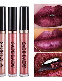 baratos Maquiagem para os lábios-Gloss Labial Batons Orgânico Brilho Multi-Côr Alta qualidade Natural Hipoalergênico Não Perfumado Sem Parabenos Sem PABA Sem Óleo Sem
