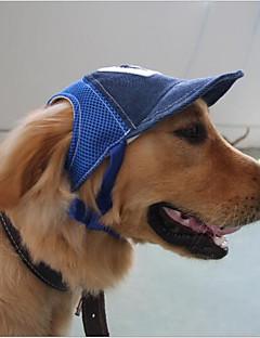 billiga Hundkläder-Katt Hund Hattar, kepsar och snusnäsdukar Hundkläder Bokstav & Nummer Kaffe Blå Annat material Kostym För husdjur Ledigt/vardag Lolita