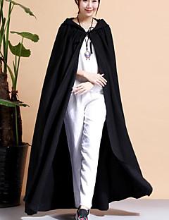 お買い得  レディースコート&トレンチコート-女性用 祝日 トレンチコート - アジアン・エスニック ソリッド
