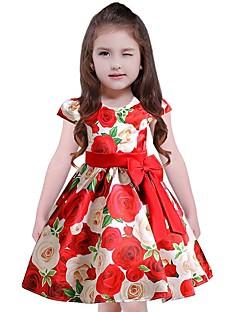 Χαμηλού Κόστους Πώληση-Παιδιά Κοριτσίστικα Καθημερινό Φλοράλ Κοντομάνικο Φόρεμα