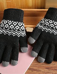 baratos Acessórios de Inverno-Homens Trabalho Até o Pulso Ponta dos Dedos Luvas - Estampado