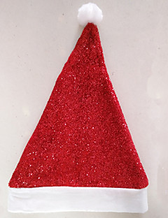 billige julen Kostymer-Ferie Nisse drakter Hatter Rød Klede Cosplay-tilbehør Jul