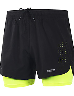 Arsuxeo Men's Running Shorts Quick Dry Lightweight Materials Reflective Strips Reduces Chafing Shorts Bottoms Exercise & Fitness Leisure