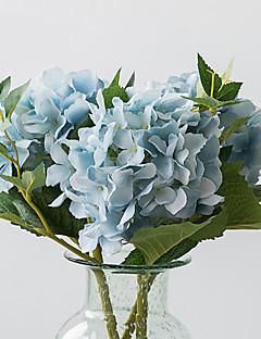 Χαμηλού Κόστους Σετ Σεντονιών & Μαξιλαροθήκες-Ψεύτικα λουλούδια 1 Κλαδί Μοντέρνο Στυλ / Ευρωπαϊκό Στυλ Ορτανσίες Λουλούδι για Τραπέζι
