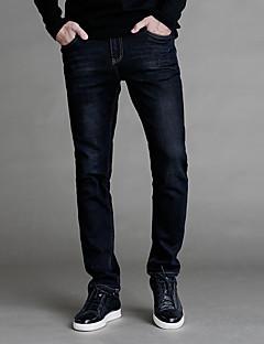 Herre Enkel Vintage Gatemote Mikroelastisk Bukser Jeans Bukser,Bukser Jeans Lavt liv Ensfarget