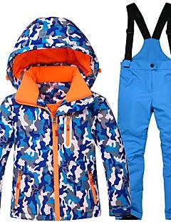 Crianças Calças & Jaquetas de Esqui Quente Prova-de-Água A Prova de Vento Vestível Respirabilidade Esqui Algodão Ecológico Poliéster