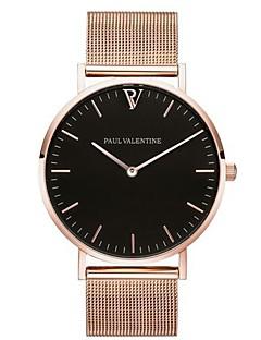 baratos -Mulheres Relógio Casual Relógio de Moda Chinês Quartzo Cronógrafo Aço Inoxidável Banda Casual Elegant Natal Preta Prata Ouro Rose