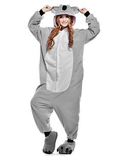billige Kigurumi-Voksne Kigurumi-pysjamas Koala Onesie-pysjamas Kostume Polar Fleece Grå Cosplay Til Pysjamas med dyremotiv Tegnefilm Halloween Festival / høytid / Jul